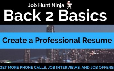 Private: Creating a Professional Resume