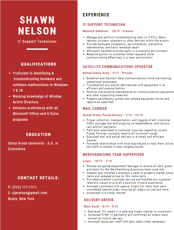 Job Hunt Ninja Resume Gallery Samples
